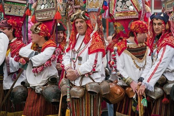 Kukeri festival in Bulgaria