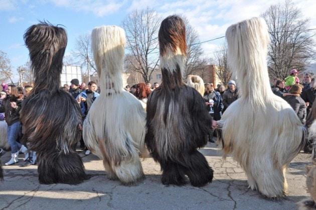 Kukeri fesrival in Bulgaria