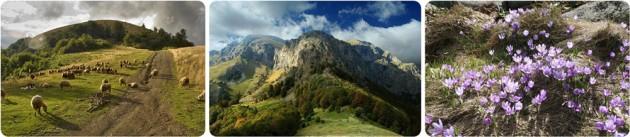 Hiking tour around the Balkan range