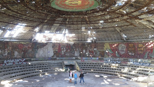Buzludzha monument in Bulgaria